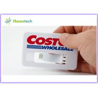 Buy cheap White Business Card USB Memory Disk full Color Logo , Real Storage 4GB Credit Card USB 2.0 from wholesalers