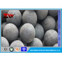 Buy cheap Industrial High Hardness HRC 60-68 forged grinding media steel balls 60Mn from wholesalers