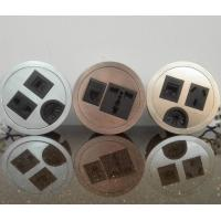 Buy cheap Round Conference Table Socket / Zinc Alloy Desktop Power Sockets from wholesalers