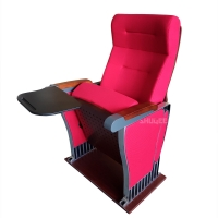 Buy cheap Foldable Audience Seating PU Molded Foam Anti Stained Auditorium Chairs With Writing Board from wholesalers