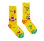 Buy cheap Trendy Popular Colorful Dress Socks , Jacquard Logo Stylish Dress Socks Girls Cotton Socks from wholesalers