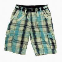 Buy cheap Checked Cargo Shorts with Side and Back Pockets, Regular Fit from wholesalers
