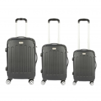 Wholesale Spinner Wheels Black ABS Hardside Luggage Sets from china suppliers