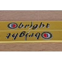Promotional Pvc Bar Mat With Embossed Logo , Bar Mats For Glasses Manufactures
