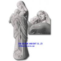 Wholesale Marble Statue,Stone Carving,Sculptures -Mary with Baby and Lamb from china suppliers