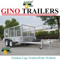 Buy cheap Fully welded & Heavy duty box & Cable disc brake Tandem Trailers 8x5ft from wholesalers