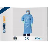 Buy cheap Sbpp Blue Disposable Isolation Gowns S-6XL Thumb Loops Garments  In AAMI Level 1,2,3 from wholesalers