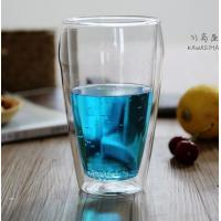 Buy cheap Borosilicate double wall glass handmade  500ml big glass cup with handle and lip clean Heat-resisting glass cup from wholesalers