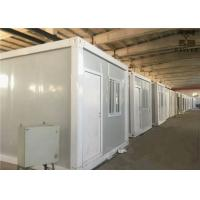 Buy cheap Flat Roof Prefabricated Container House , Steel Door Shipping Container Prefab from wholesalers