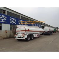 Buy cheap 2axles oil fuel tank trailer with 2fuwa axles and Q345carbon steel material from wholesalers