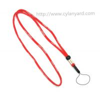 Buy cheap Round cord rope phone holder neck strap, comfortable fabric cord neck rope strap, from wholesalers