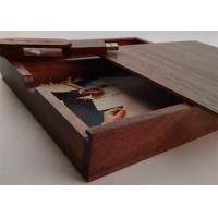 Buy cheap Customized Wedding Album Presentation Box , Wooden Photo Keepsake Box product