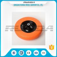 Buy cheap Diamond  Pattern PU Foam Wheel 90mm Hub Length 150kg Load For Wheelbarrows from wholesalers