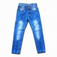 Buy cheap Boy's Jeans, Long Jeans, Made of 100% Cotton, Perfect Washing, Comfortable to Wear from wholesalers