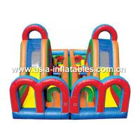 Buy cheap Inflatable Turbo Rush Obstacle Challenge With Dual Slide Lane For Extream Games from wholesalers