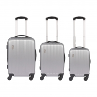 Wholesale ABS Hardside Travel Luggage Sets Silver from china suppliers