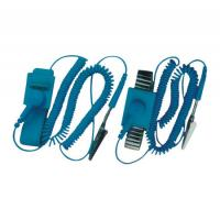 Wholesale Professional Electrical Equipment ESD Wrist Strap With Wire , Rubber And Alloy Material from china suppliers