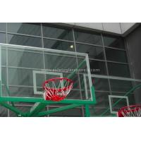 Buy cheap Inground Basketball Hoops 54 Tempered Glass Backboard / Glass Basketball Goals from wholesalers