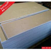 Buy cheap 1.22*2.44 White Acrylic Sheet  Virgin Weather Abrasion Resistance from wholesalers