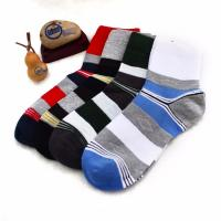 Buy cheap Wholesale OEM striped cotton leisure socks for men from wholesalers