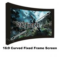 Buy cheap Movie Cinema 16:9 Front Projection Screen 92inch Arc Fixed Frame Projector Screens from wholesalers