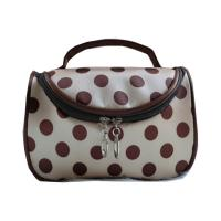 Buy cheap Custommizable Reusable Travel Cosmetic Bags And Cases with Dots Printed from wholesalers