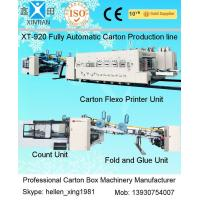 Buy cheap Carton Manufacturing Machine Flexo Printer Slotter Die Cutter With Folder Gluer Bundler from wholesalers