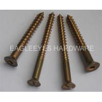Buy cheap Silicon bronze wood screws fasteners from wholesalers