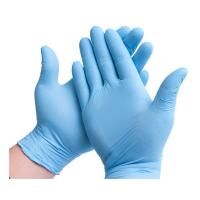 Buy cheap Blue Disposable Lab Gloves , Oil Resistant Disposable Gloves For Working from wholesalers