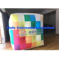 China 2.5m PVC Cube Helium Balloon Lights With Full Logo Printing Flying For Advertising on sale