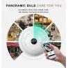 Buy cheap Wi-Fi bulb Camera VR 1080P LED FishEye smart Home Phone spy lamp hidden Light from wholesalers