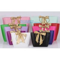 Buy cheap Luxury Kraft Paper flower bag paper with handle, flower carrier bag,PaperGiftBagsCarrierParty Paper Gift Shopping Bag from wholesalers
