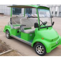 Green 4 Seat Electric Car Sightseeing Electric Vehicle For 4 Persons With DC Motor