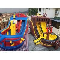 Buy cheap Custom Giant Inflatable Pirate Ship Slide For Rental Jumping Bouncer Ship Slide product