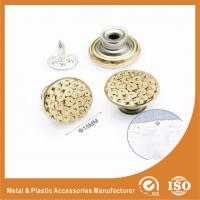 Buy cheap Gold Custom Metal Buttons For Jeans decorative buttons for clothing product