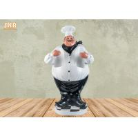 Buy cheap Antique Fat Chef Decor Polyresin Statue Figurine Resin Chef 2 Bottle Tabletop Wine Holder from wholesalers