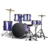Wholesale Beginner Practise PVC series 5 drum set/drum kit OEM various color-A525P-901 from china suppliers