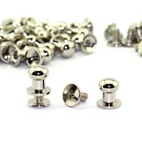 Buy cheap Solid Brass Button Studs Rivets Screwback Screw Back Spots Round Head Button Stud Slotted Screws Nail Rivet For Leather from wholesalers