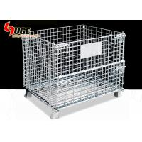 Buy cheap 5.8mm Diameter Steel Wire Containers / Wire Mesh Storage Cages For Factory With Forklift Trucks from wholesalers