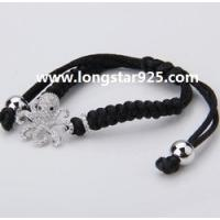 Buy cheap silver charm bracelet jewelry, adjustable cord bracelet from wholesalers