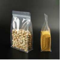 China IN STOCK flat bottom pouch plastic zipper transparent food packaging on sale