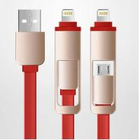 Micro usb  to micro usb Electric Wire Cable 2 in 1 flat Quick Charge Manufactures