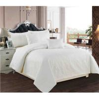 Buy cheap White Quilts 5pcs Microfiber Bedding Set from wholesalers