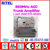 Buy cheap 860MHz 30dB CATV/MATV Trunk  Amplifier/Booster RTA-8630G with AGC from wholesalers