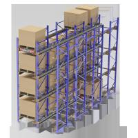 Buy cheap Steel Q235B Radio Shuttle Racking System Electrostantic Powder Coated Finish from wholesalers