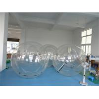 Buy cheap Customized 1.0 Mm PVC / TPU Clear Inflatable Bubble Ball For Swimming Pool from wholesalers
