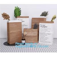 Wholesale Laudry kraft bags, clothes bags, pack Recycled brown kraft paper bag twisted handles shopping packaging kraft paper bag from china suppliers