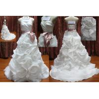 Buy cheap Gorgeous Organza Flouncing with Ribbon wedding dress from wholesalers