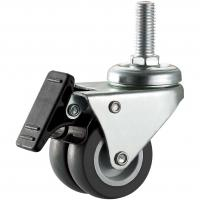 Buy cheap Dual 50mm TPR Wheels With Brakes For Furniture PP Core Material 2 Inch from wholesalers