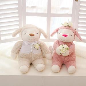 Cute sheep couple plush toy ,wedding decorative stuffed sheep couple toy Manufactures